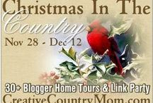 Christmas In The Country - Blogger Holiday Home Tour and Link Party at www.creativecountrymom.com / We all love a cozy, warm place to spend the holidays!  Let us inspire you with down home, easy but beautiful ideas for your holiday and winter decor.  This page will be for the featured blogs participating in the tour and pinned posts that link up to the party.  It all will be at www.creativecountrymom.com from November 29th to December 12th!  More info come soon....Brooke Kroeger, Creative Country Mom