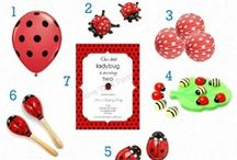 Ladybug Party / Lady bug, lady beetle, lady bird party ideas, ladybug party invitations, ladybug party decorations and supplies, lady bug themed party favors, baby shower ideas, red and black polka dot party supplies, party printables, birthday cakes, ladybug themed party food, kids party ideas galore!