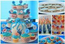 Under the Sea Party / Under the Sea, Ocean, party ideas & inspiration, ocean theme party food, sea party decorations, under the sea cakes, party favors, party supplies, cupcakes, party invitations, party printables.