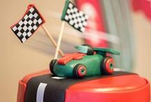 Racing Car Party / Racing Car Party Ideas and inspiration, vintage car party, car cakes, car party decorations, cars invitations, car party food ideas.