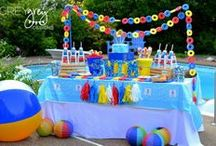Summer Pool Party Ideas / Summer pool party ideas, party food, summer party decorations, bright party supplies.