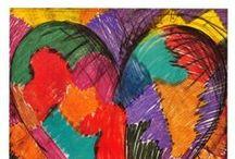 Jim Dine / Obras do artista Jim Dine.