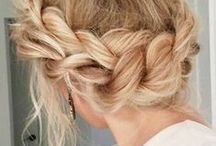 HAIR / Hair inspiration, curls, dye, braids, tutorials