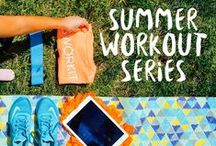 Workouts   Summer Workout Series / Looking to have an active, fun summer? Here are some workouts perfect for you! They are all created by Melissa LaRose from http://scribble-n-dash.blogspot.com/