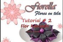 YouTube Video Tutoriales Fiorella flores en tela / Aprende a hacer hermosas flores en tela y en cintas, te explico el paso a paso y te doy los trucos para que tengan un excelente termionado.
