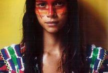 Ethnic beauty and fashion / Gorgeous World Women with Ethnic beauty and Ethnic fashion