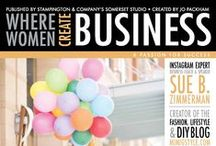 wwcBusiness MAGAZINE / Covers of the most recent issues of the new where women create BUSINESS magazine