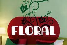 Vinilos Floral / Los motivos florales son preciosos y quedan genial en cualquier hogar. Un aporte elegante y cálido.
