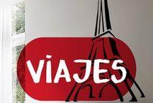 Vinilos Viajes / #Vinilosdecorativos relacionados con #viajes Ideales para la #decoracion de tu hogar.