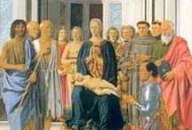 RINASCIMENTO ITALIANO / Leon Battista Alberti, Masaccio, Masolino da Panicale, Piero della Francesca, Michelangelo Buonarroti, Donatello, Lorenzo Ghiberti, Brunelleschi Filippo.