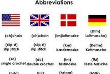 Háčkovacie termíny v rôznych jazykoch / Crochet Terms In Different Languages