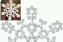 Horgolás 5. hópelyhek - Crochet 5. snowflakes