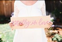 Calligraphy Signs / Hand lettered signs using modern calligraphy for weddings, parties, and events // both inspiration and POPPYjack Shop custom designs