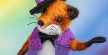 Original Felted Foxes / Wonderful Souvenir for Fox Lovers - Needle Felted Foxes