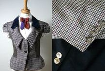 Upcycled clothing / clothing cleverly made from other things. Also see the clothing board. / by Miranda Ford