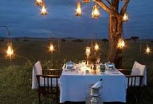 Romance by Night... / Dedicated to dreamy ways to spend an evening in far-flung corners of the world, especially in Africa: dinners with your toes in the sand, outdoor showers and simply exquisite bedrooms.
