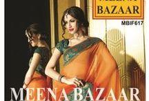 Designer Saree Collection - IIFA / Meena Bazaar Presents Alluring and Traditional  #Designer Saree with Zari and Patch Work.