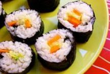 more asian / many different asian meals to enjoy.  Try some, you might find you love it. / by Rosanne Gionet