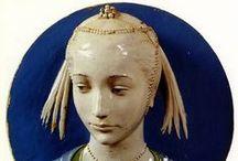 Della Robbia / I Della Robbia sono una famiglia di scultori italiani, specializzata nella tecnica della terracotta policroma invetriata.