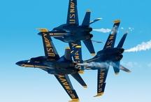 """Blue Angels"" US Navy and Marine Corp / Acrobatic Airmen / by Bonita Ball"