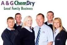 A&G Chem-Dry - about us! / Meet the team at A&G Chem-Dry, your local  Carpet, Upholstery & Rug Cleaning family business for the East Midlands! When you choose a company to carry out work in your home or workplace for the first time, you will definitely want to know a little bit more about their people before you make your choice – and it's always good to put a face to a name.  So, here we all are, complete with our cheesiest grins!