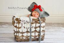 Happy Baby Crochet / Newborn photography prop hats designed by Happy Baby Crochet.  Visit my blog for crochet links and ideas:  www.happybabycrochet.com.