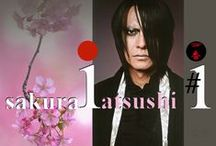 °JaPaN° °Atsushi Sakurai's Aku no Hana° / Atsushi Sakurai is the lead vocalist of the amazing japanese rock band BUCK -TICK and these are his favourite flowers - moon orchid, wisteria, licorice, peony, gerbera, dark red rose and of course sakura :)