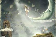 IIlustrations♥night, fairy, witch, Alice / Ilustrace * noc, víly, čarodějnice, Alenka
