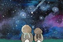 Illustrations ♥ Rabbits / Ilustrace * Zajíčci