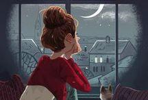 Illustrations ♥ Cats / Ilustrace * Kočky
