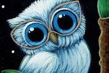 Illustrations ♥ Owls / Ilustrace * Sovy