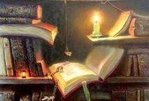 Illustrations ♥ Books & Bookshops / Ilustrace * Knihy & Knihkupectví