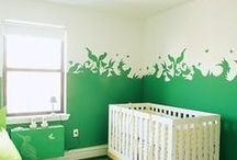 Color Inspiration: Kid's Rooms / Think beyond traditional pink or blue for children's rooms and nurseries. More cheerful colors can be used to create a space for kids that is fresh and fun. Help your child create a space of their own that reflects their unique taste in color!