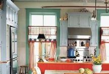 Color Inspiration: Kitchens / Paint color can be used on many surfaces beyond walls to transform a kitchen. Find color inspiration for your kitchen renovation or kitchen DIY decorating project.
