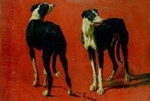 Greyhound in art