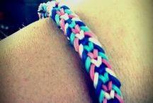 Rainbow loom jewellery