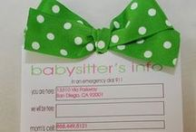 Babysitter Tips / Fun tips & creative ideas for sitters and parents