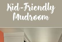 Mudroom Makeover & Paint Color Inspiration / Do you have a Mudroom that needs to be revamped with a fresh coat of paint? Use these paint color ideas, advice, tips and tricks to tackle a Mudroom Room Makeover!