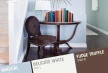 """Reading Corner Makeover & Paint Color Inspiration #MyMenardsDIY / Do you have a reading corner or reading nook that needs to be revamped with a fresh coat of paint? Use these paint color ideas, advice, tips and tricks to tackle a Reading Corner Makeover! Visit the """"Simple Projects Great Results"""" display in your local Menards for more decorating ideas & to browse Pittsburgh Paints & Stains' Grand Distinction paint colors! Share your project with us using #MyMenardsDIY . We want to see your room makeovers & paint color choices!"""