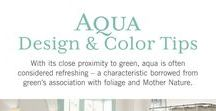 Our Best Aqua Paint Color Tips / Aqua Color & Design Inspiration! With its close proximity to green, aqua is often considered refreshing – a characteristic borrowed from green's association with foliage and Mother Nature.  Pale and pastel shades of aqua communicate such refreshed energy in a mild and gentle delivery, creating a nurturing and encouraging feeling. For this reason, aqua hues are ideal for children's rooms, family rooms, and bathrooms designed with a spa-like theme.