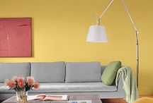 Our Best Yellow Paint Color Tips / As the lightest hue of the spectrum, yellow captures the exuberance of the sun, and communicates joy and can create the most agreeable and comfortable spaces to live in.  As yellows deepen and move closer to brown, they take on more earthy sensibilities and evoke a happy charm that can feel quite stable and grounded. Vibrant citrus or spice hues, on the other hand, are more active and produce feelings of spontaneity, creativity, and moving energy.