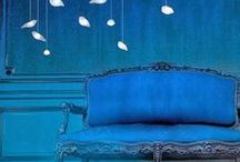 Blue / Blue rooms, accessories, furniture, views, foods and moods.