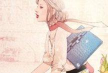 Watercolor girls / Inspiration illustration