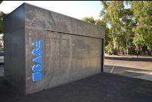 Uni SA Magill BBQ Shelter - Keystone Acoustics / Project Name: Uni SA Magill BBQ Shelter Perforations: Custom: Designed from Photo provided by Hardy Milazzo Designer: Hardy Milazzo Photography: Hardy Milazzo