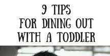 Dining Out with Toddlers / Going out to eat with toddlers can be exhausting. Here are some ideas that make things a little easier for all parties involved!