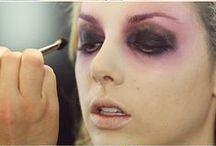 Costumes and make-up / maquillage et déguisements pour soirées déguisées, haloween  . . .