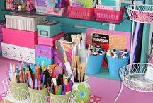 Para guardar scrapbooking / Ideas para guardar Scrap y decoración habitaciones de Scrap