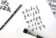 Fonts & Lettering / Where to find free fonts and lettering ideas for designing your brand and blog.