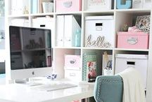 Home Office. / Ideas for my dream home office! All bloggers dream of a space of their own that they can be inspired in. Here are some of my favorites.