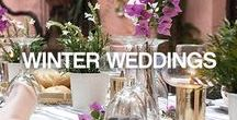 WINTER WEDDING / We love magical winter weddings! Get inspired and create your very own romantic winter wonderland.